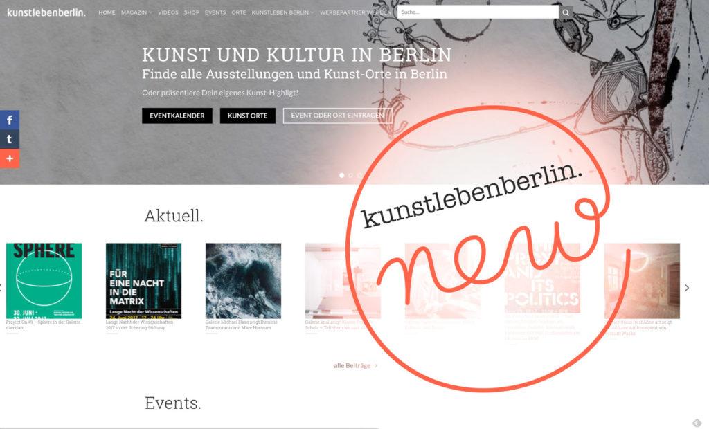 Kunstleben Berlin new, mit Eventkalender und Art Guide Berlin