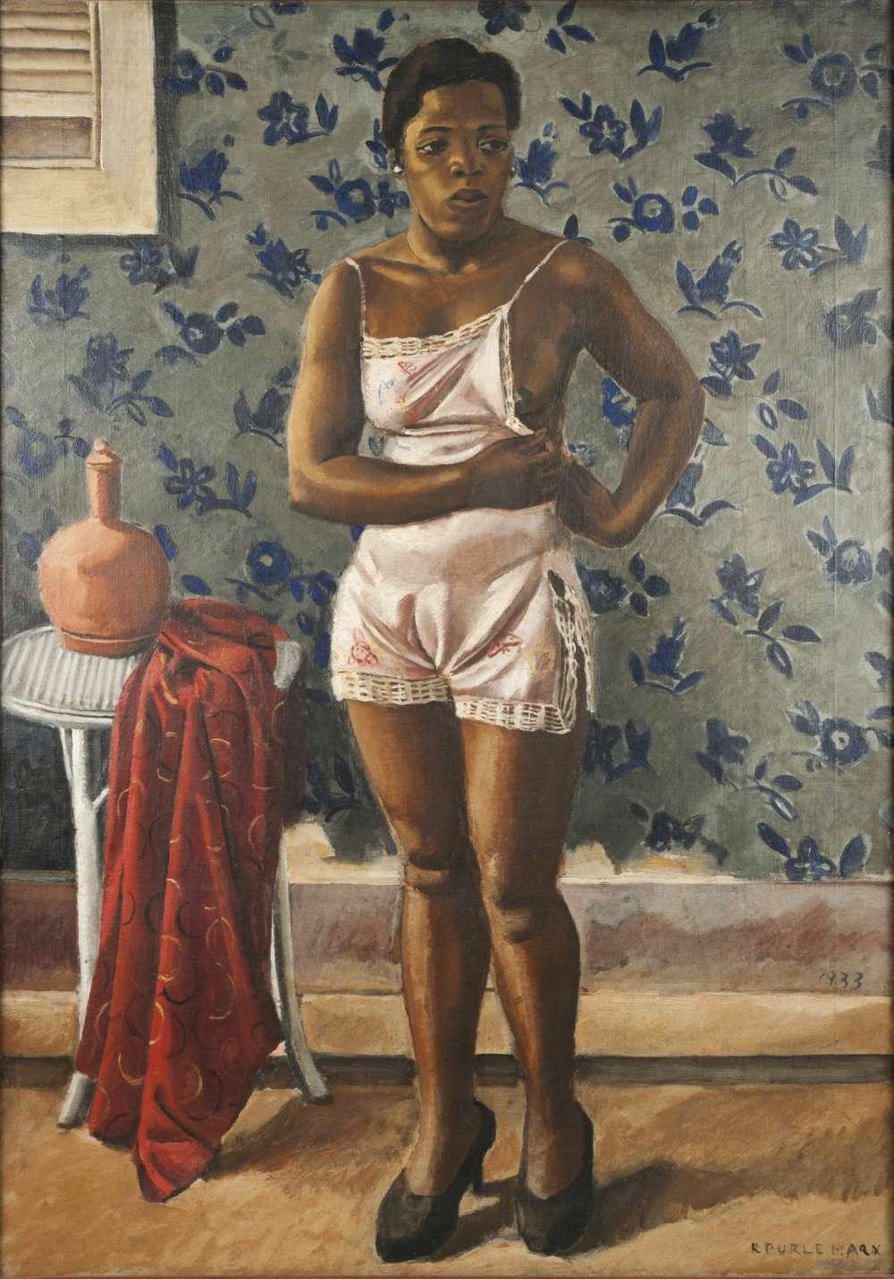 Roberto Burle Marx, Woman in a Pink Slip, 1933, oil on canvas, 39 æ x 28 in. (101 x 71.1 cm). SÌtio Roberto Burle Marx, Rio de Janeiro.