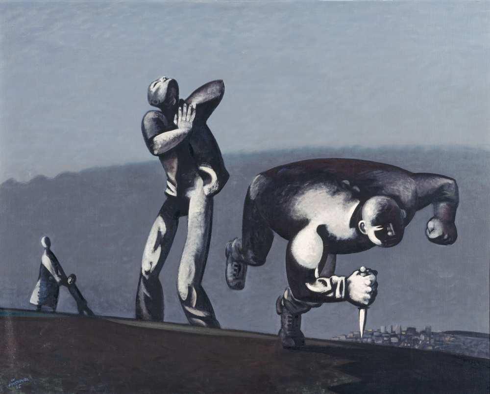 Wolfgang Mattheuer, Kain, 1965, Öl auf Leinwand auf Hartfaser, 95,5 x 118,5 cm