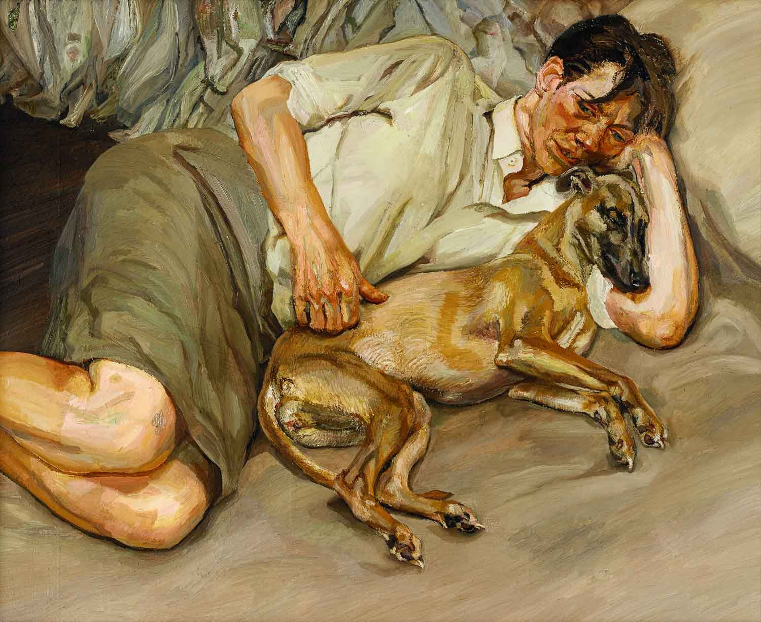 Lucian Freud: Double Portrait, 1988-90 Öl auf Leinwand, 113,3 x 134,62 cm © The Lucian Freud Archive/Bridgeman Images UBS Art Collection