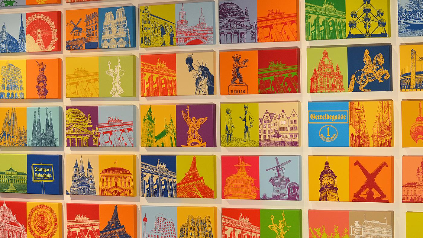 ART-DOMINO® CITIES IN POP ART BY SABINE WELZ - Kunstleben Berlin ...