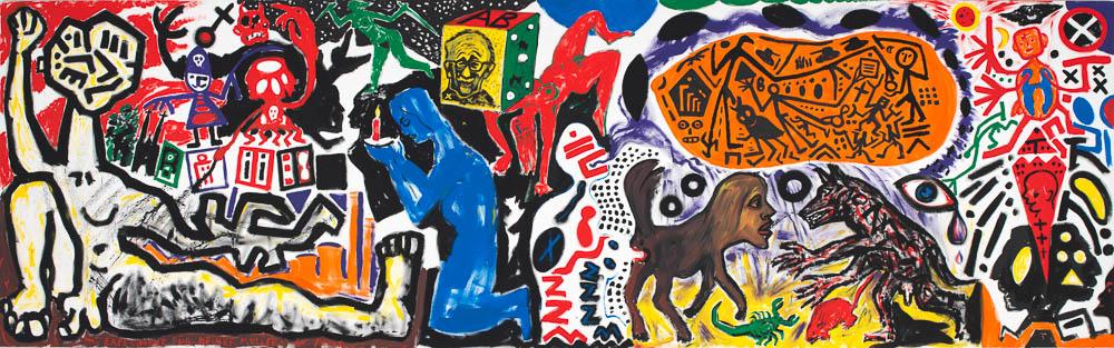 Penck in der Galerie Michael Haas.