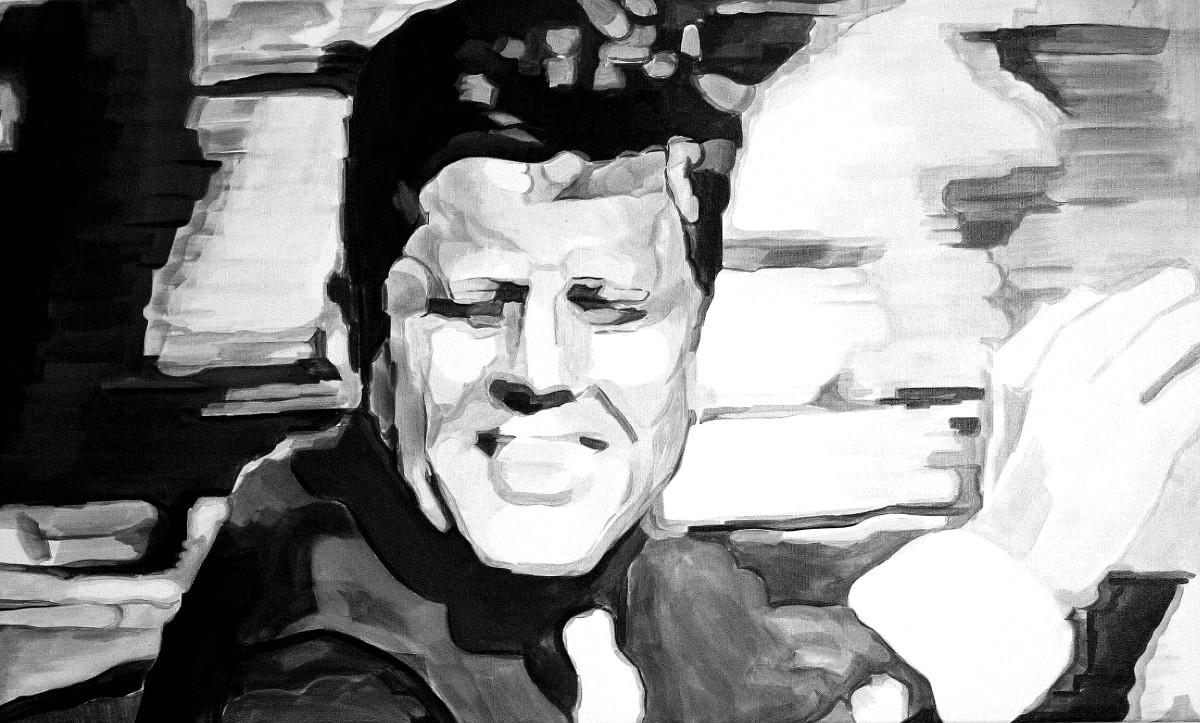Aaron Vidal, J.F.K. Dallas 23.11.1963, 2017, Acryl auf Leinwand, 60 x 100 cm