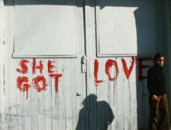 Ana Mendieta, Blood Writing, 1974. Super 8 film, colour, silent. © The Estate of Ana Mendieta Collection, LLC., Courtesy Galerie Lelong & Co.