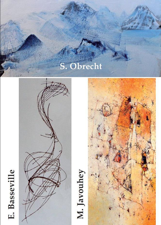 Begegnung in der Galerie Sievi mit Edith Basseville, Marie Javouhey und Suzanne Obrecht.