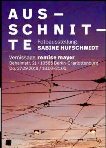 Sabine Hufschmidt, remise mayer, Fotoausstellung