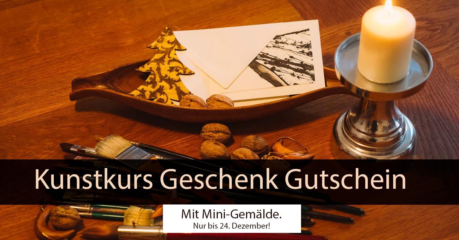 Kunstkurs Geschenk Gutschein