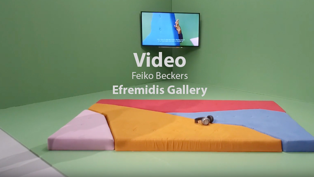 Video Feiko Beckers in der Efremidis Gallery