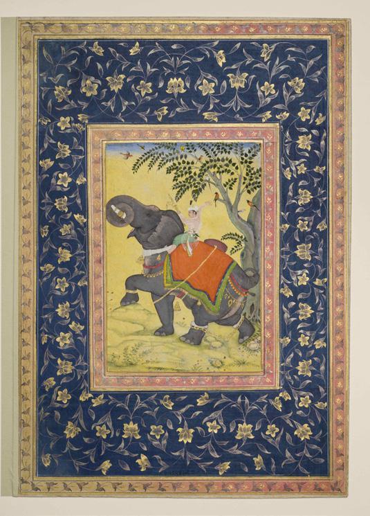 Kaiser Akbar reitet seinen Lieblingselefanten, © Staatliche Museen zu Berlin, Museum für Islamische Kunst / Christian Krug
