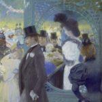 Franz Skarbina Blumenfest in Paris (Fête des Fleurs) um 1894 Pastell auf Malkarton Stiftung Preußische Schlösser und Gärten Berlin-Brandenburg Foto: Wolfgang Pfauder