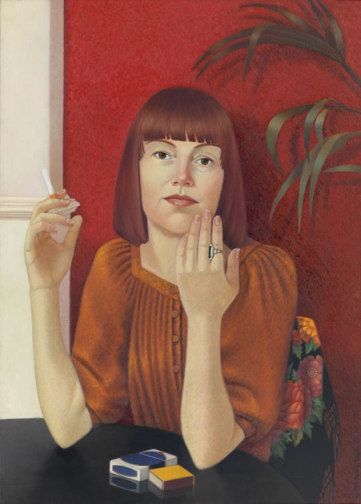 Almut Heise Frau mit roten Haaren, 1980 Öl auf Leinwand 88,5 x 63 cm