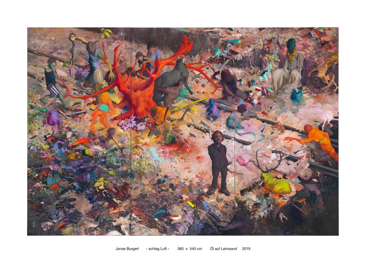 Jonas Burgert, schlag Luft, 2019 © Courtesy of the artist & Blain|Southern, Photo Lepkowski Studios