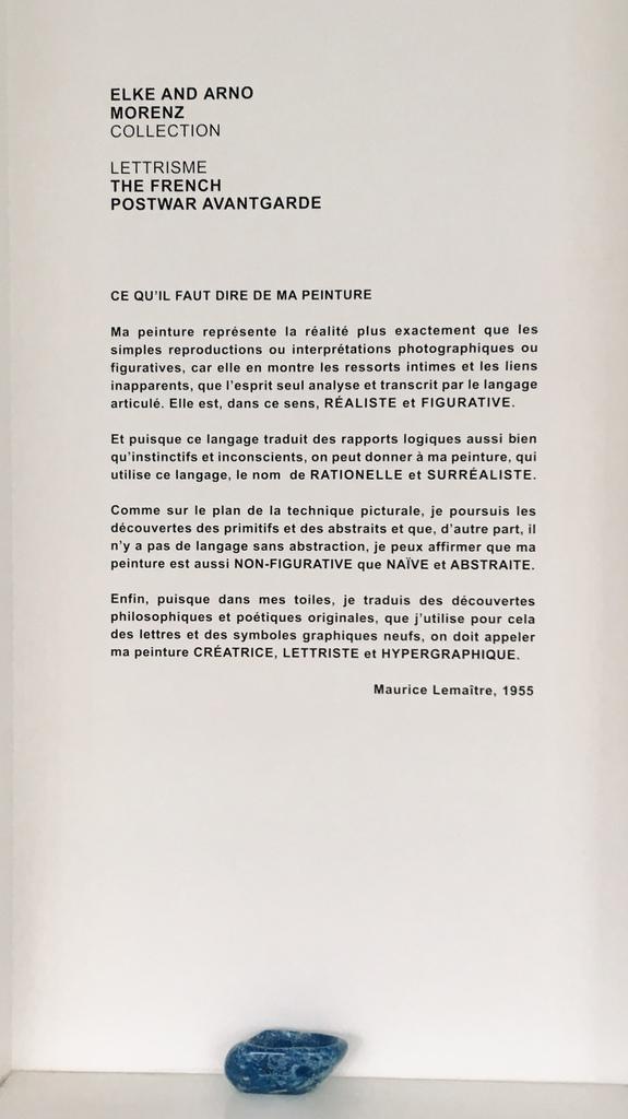Lettrisme Maurice Lemaître 1955. In der Elke and Arno Morenz Collection. Foto: №RA