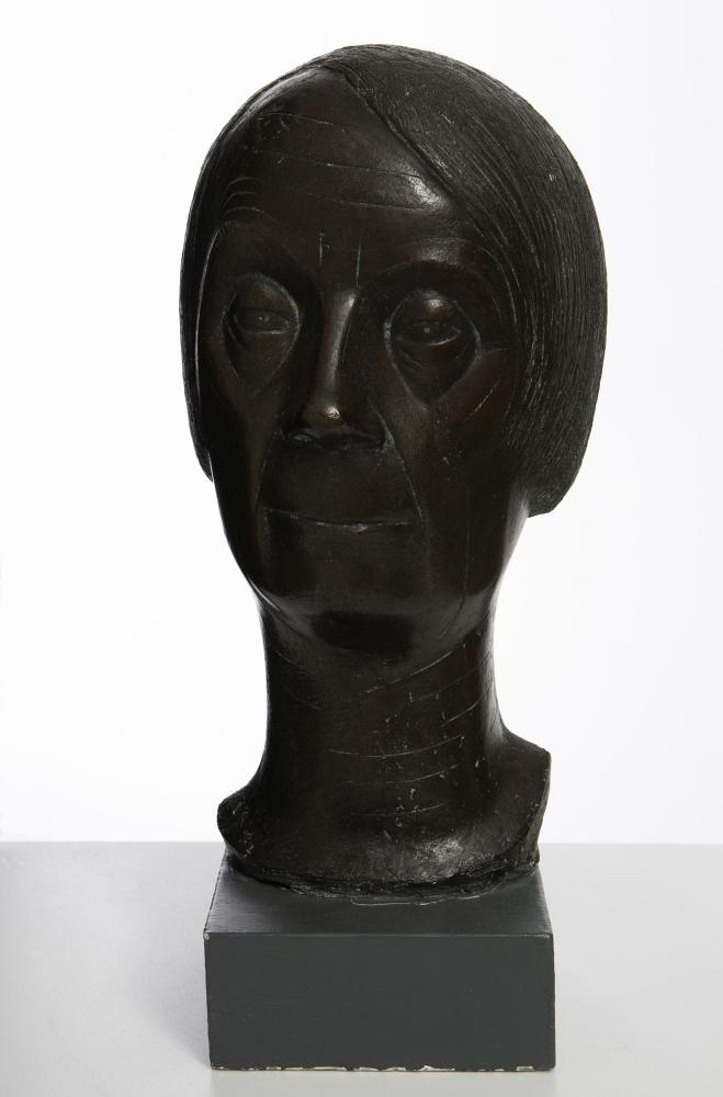 Emy Roeder: Selbstbildnis, 1958, Bronze. Museum im Kulturspeicher Foto Andreas Bestle