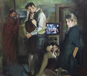 Friedmann-Hahn Markus Fräger Aufkommende Erinnerung, 2019, Öl auf Leinwand, 120 x140 cm