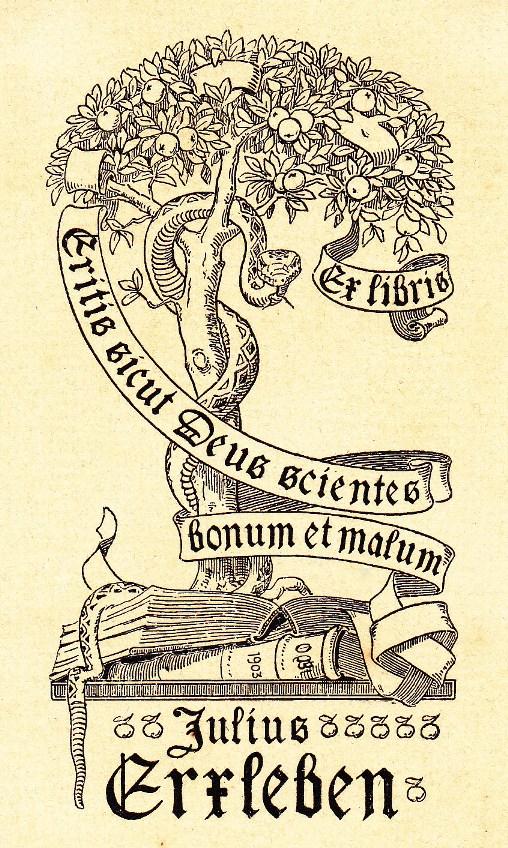 Charlottenburg Otto Blankenstein Ex libris Julius Erxleben 1903, Courtesy by KleinervonWiese