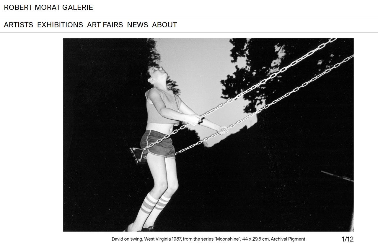 """Bertien van Manen """"David on Swing"""" Robert Morat Galerie"""