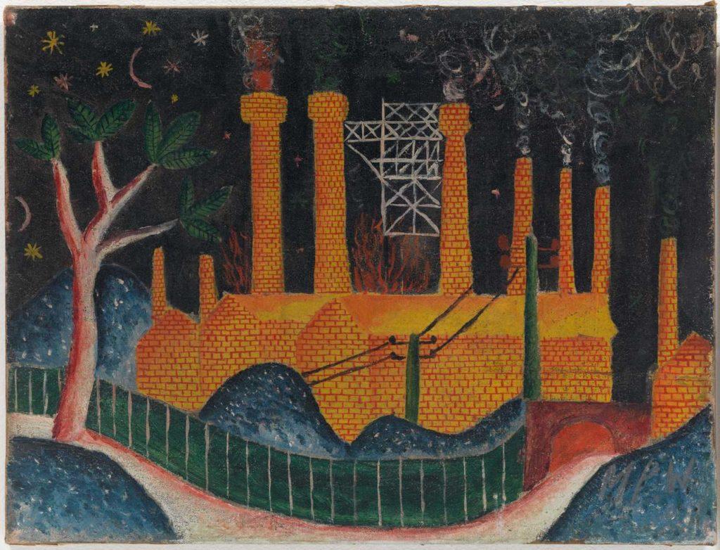 Max_Peiffer_Watenphul-Farbriklandschaft_1919 © Max Peiffer Watenphul und Galerie Michael Haas