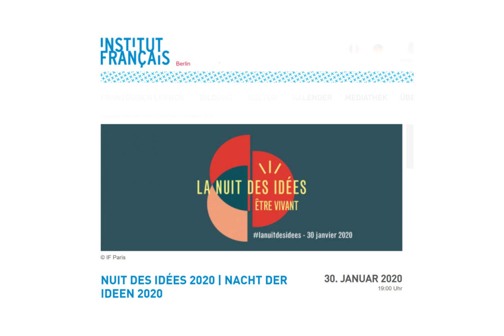 Institut français Nacht der Ideen