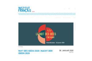 Institut francais Nacht der Ideen