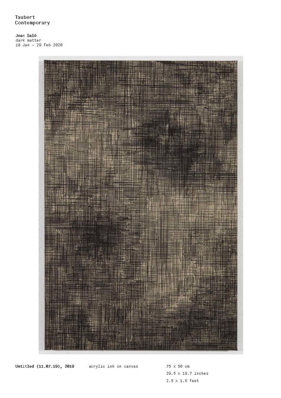Joan Saló dark matter Taubert Contemporary 2020
