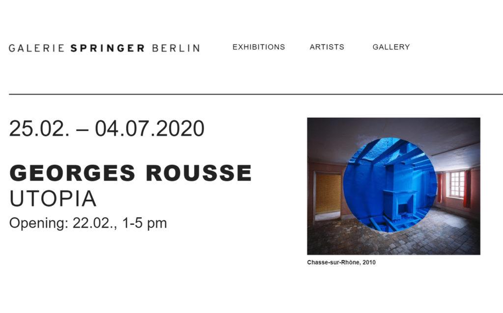 Georges Rousse: UTOPIA in der Galerie Springer