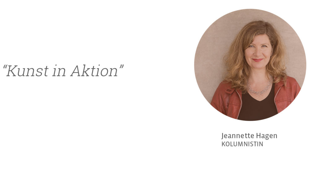 Aktionskunst - Jeannette Hagen für Kunstleben Berlin