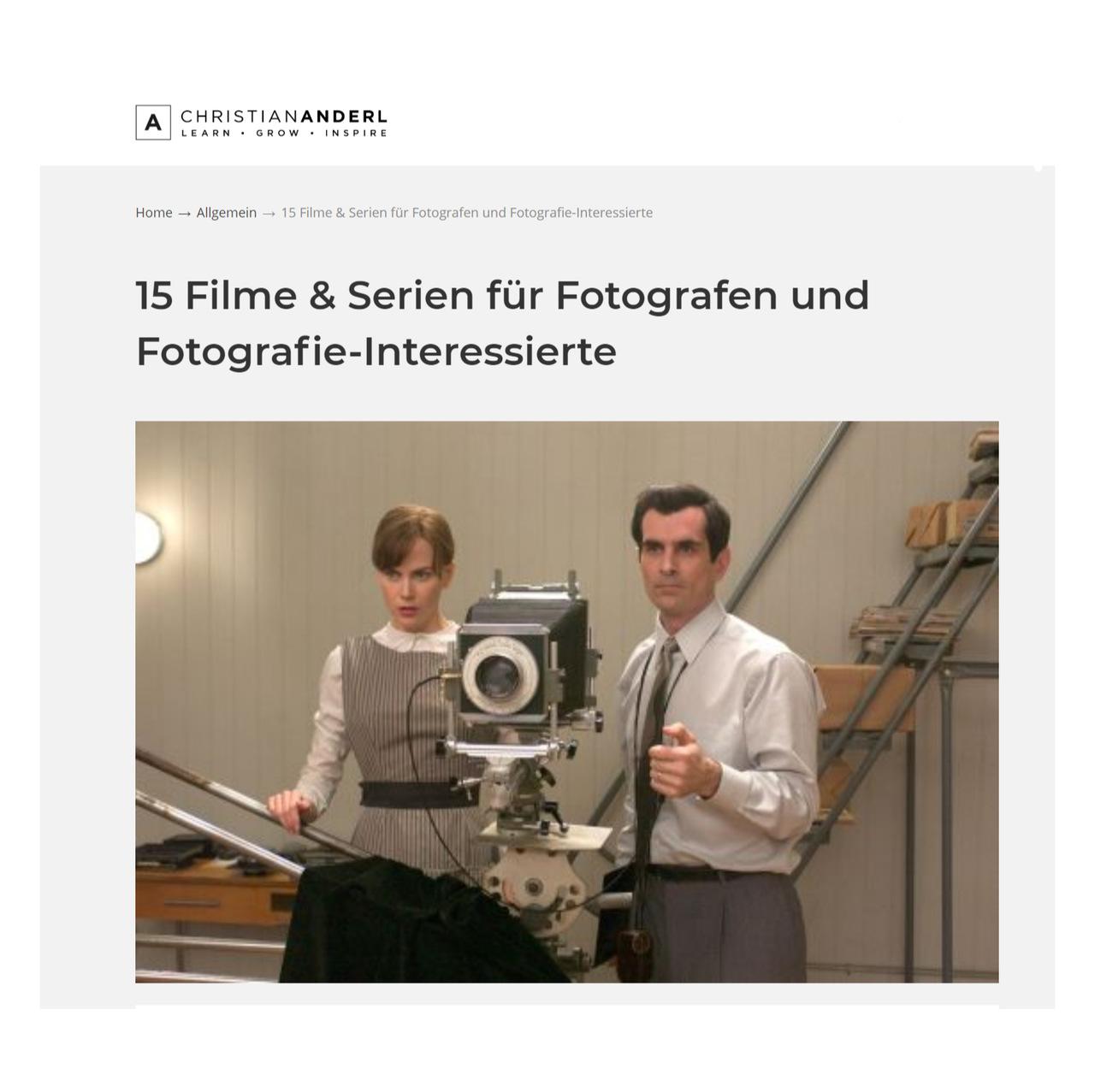 Für Fotografieinteressierte und Fotografen: 15 Filme und Serien - Kunstleben Berlin - das Kunstmagazin