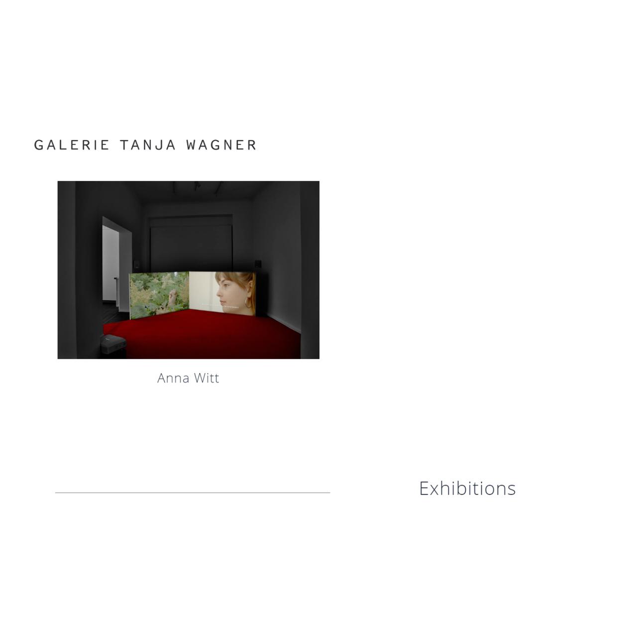 Galerie Tanja Wagner Anna Witt