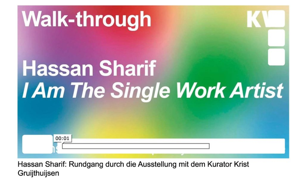 Hassan Sharif KW Institute Video