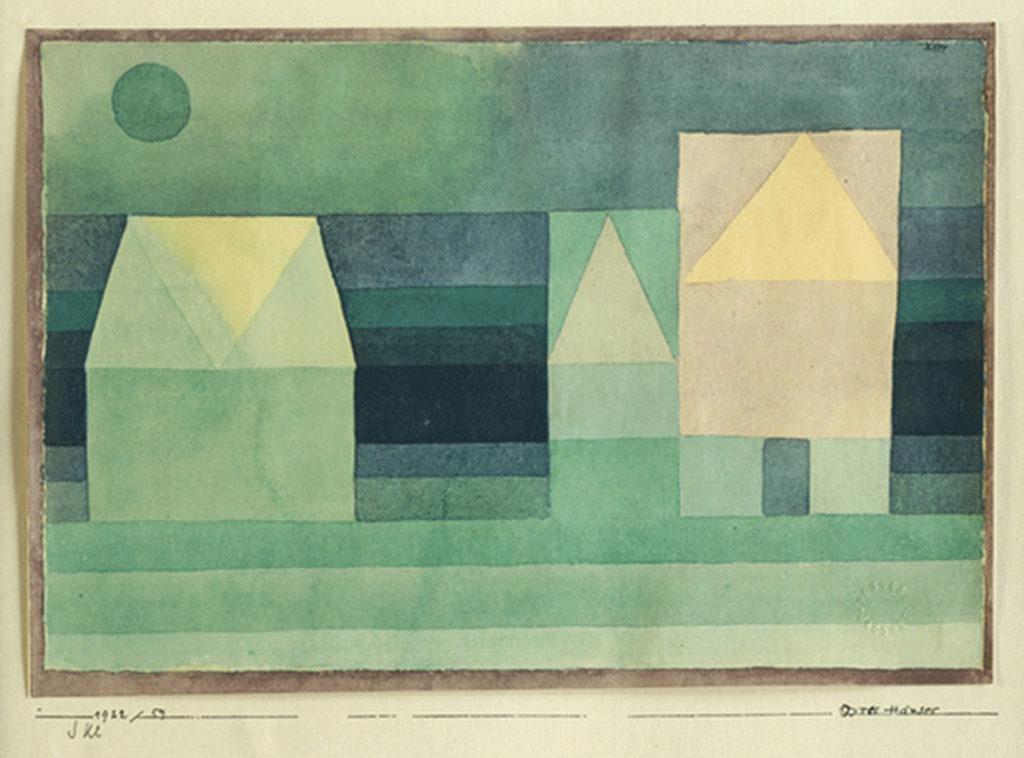 Klee, Paul – Drei Häuser (1922) Edition Berggruen 1948 - Eigentum Jana Noritsch
