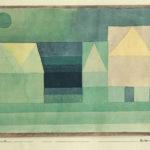 Ausgebremst Klee, Paul – Drei Häuser (1922) Edition Berggruen 1948 - Eigentum Jana Noritsch