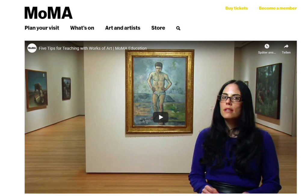 MoMA.org Kunstschulkurse online
