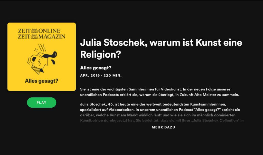 ZEIT Stoschek spotify