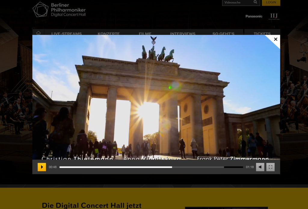 Digital Concert Hall der Berliner Philharmoniker
