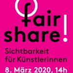 fair share! Sichtbarkeit für Künstlerinnen am 8. März vor der Alten Nationalgalerie