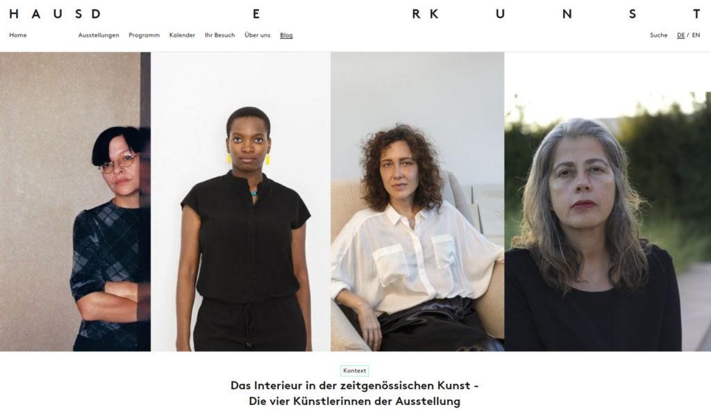 "Ausstellung ""Innenleben"" HdK Njideka Akunyili Crosby, Leonor Antunes, Henrike Naumann und Adriana Varejão"