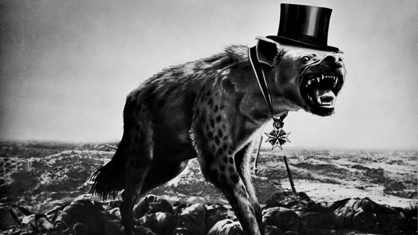 John Heartfield Krieg und Leichen - die letzte Hoffnung der Reichen