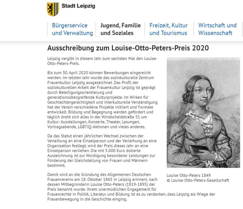 Louise-Otto-Peters-Preis Leipzig.de