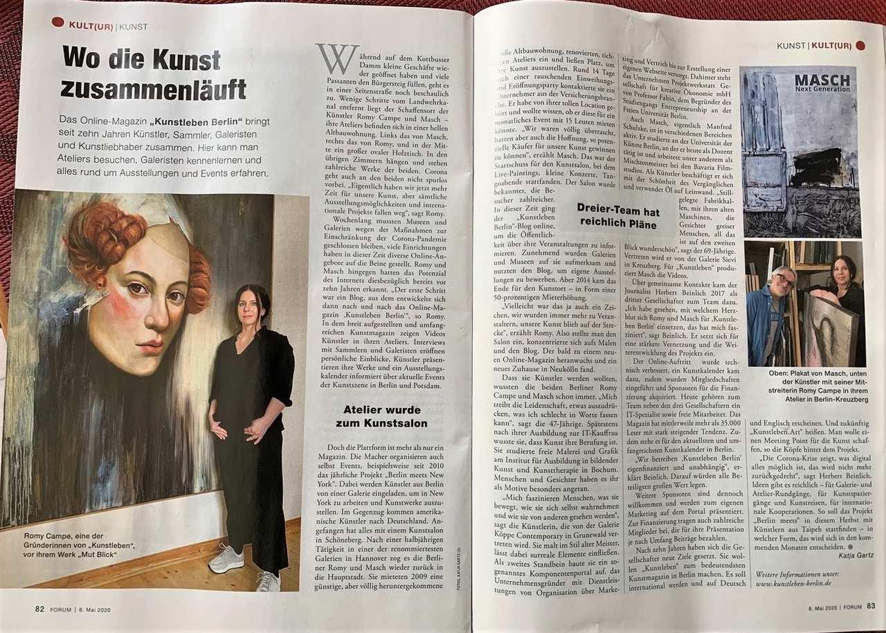 Forum Magazin Kunstleben Artikel