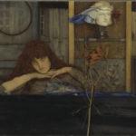 Symbolismus Fernand-Khnopff-I-lock-my-door-upon-myself-Bayerische-Staatsgemaeldesammlung