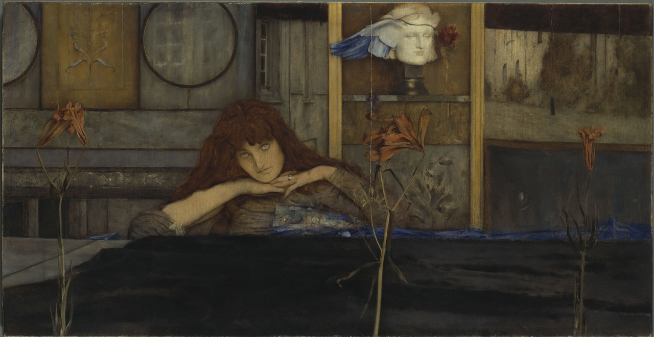 Belgischer Symbolismus Fernand Khnopff, I lock my door upon myself Bayerische Staatsgemäldesammlung