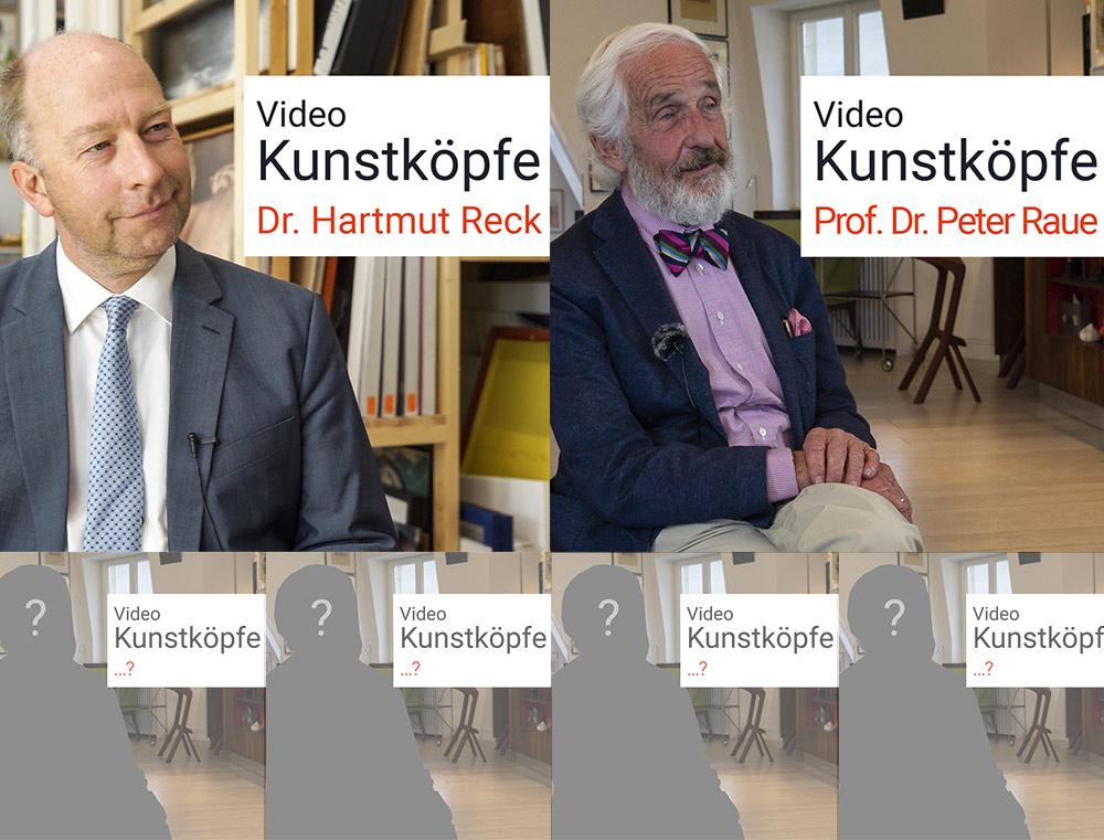 Kunstköpfe, Peter Raue, Hartmut Reck, Kunstleben Berlin