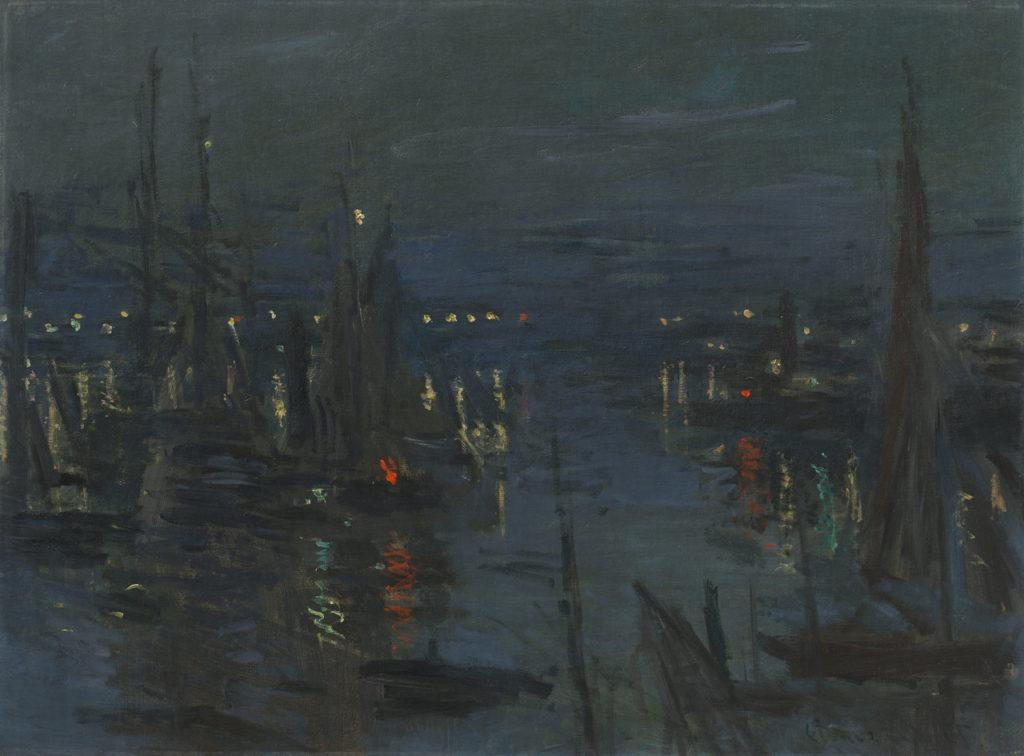 Moderne am Meer Claude Monet Der Hafen von Le Havre am Abend, 1873, Öl auf Leinwand, 60 x 81 cm, Sammlung Hasso Plattner