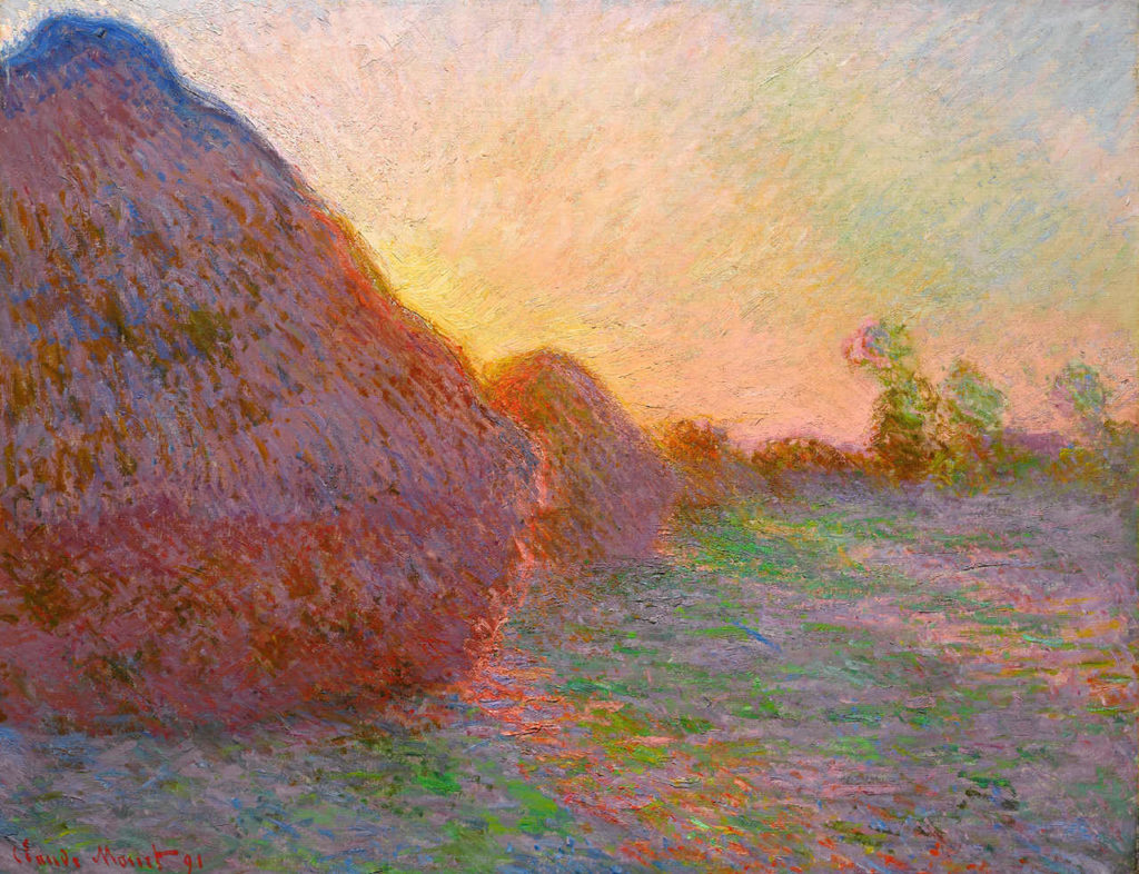 Impressionismus Claude Monet Getreideschober, 1890, Öl auf Leinwand, 73 x 92,5 cm, Sammlung Hasso Plattner