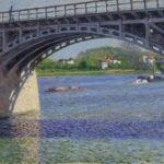 2/8 Impressionismus Gustave Caillebotte Die Brücke von Argenteuil und die Seine, um 1883, 65 x 82 cm, Sammlung Hasso Plattner