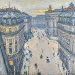 2/8 Impressionismus Gustave Caillebotte Rue Halévy, Blick aus der sechsten Etage, 1878, Öl auf Leinwand, 59,5 x 73 cm, Sammlung Hasso Plattner
