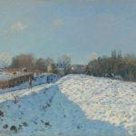 Die Farbe Weiss Alfred Sisley Schnee in Louveciennes, 1874, Öl auf Leinwand, 54 x 65 cm, Sammlung Hasso Plattner