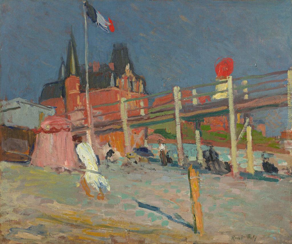 Die Küsten Europas Raoul Dufy Am Strand von Sainte-Adresse, 1906, Öl auf Leinwand, 46 x 55 cm, Sammlung Hasso Plattner, © VG Bild-Kunst, Bonn 2020