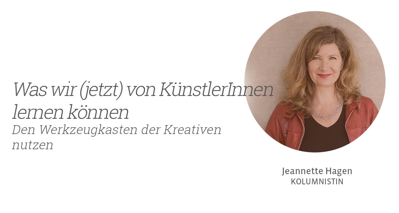 Von Künstlern lernen, Jeannette Hagen für Kunstleben Berlin
